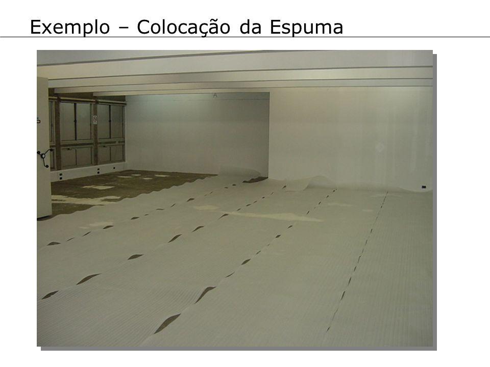 Exemplo – Colocação da Espuma