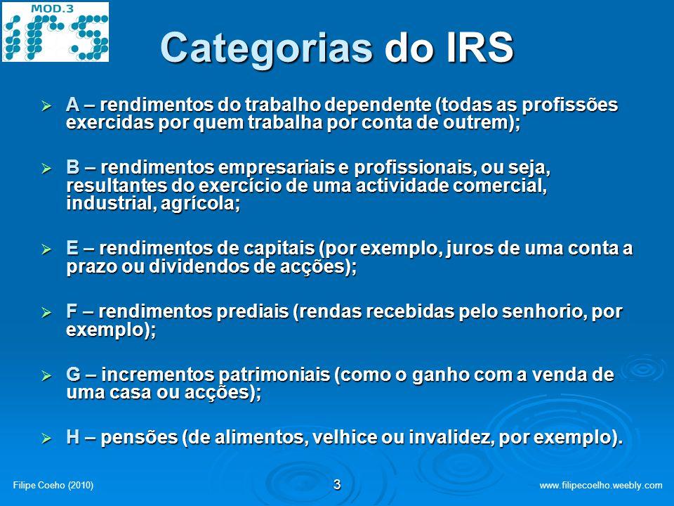 2 IRS-2009 Formas de aproveitar os Benefícios Filipe Coeho (2010)www.filipecoelho.weebly.com