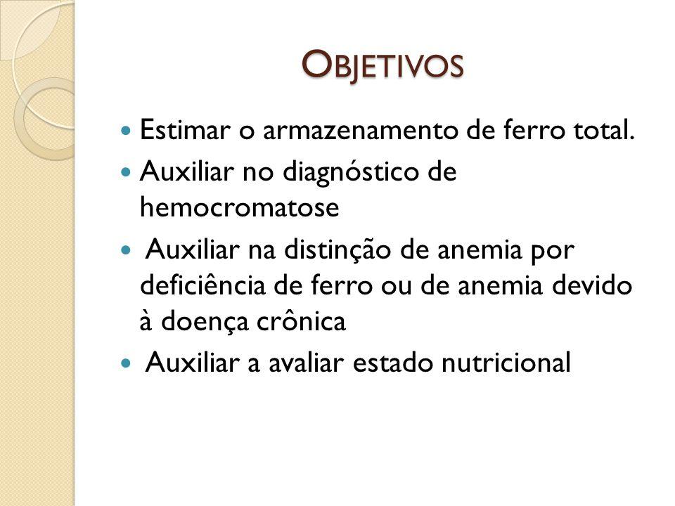 Avaliação das anemias: - Anemia ferropriva, o nível de transferrina está elevado, mas seu percentual de saturação é baixo - Anemia das doenças crônicas, a transferrina apresenta-se normal, e o percentual de saturação está aumentado.