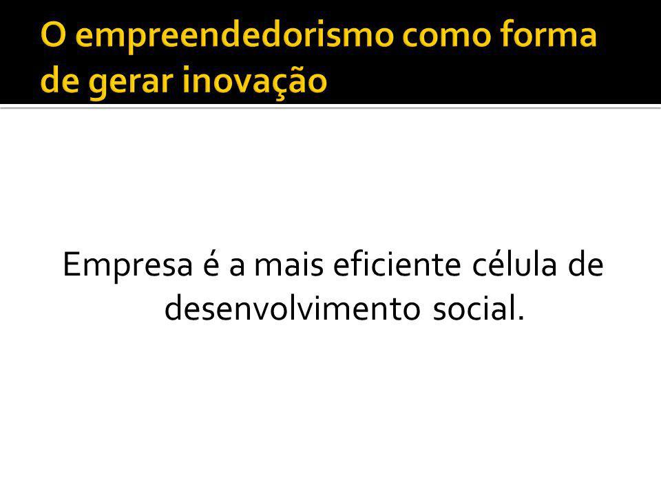 Empresa é a mais eficiente célula de desenvolvimento social.
