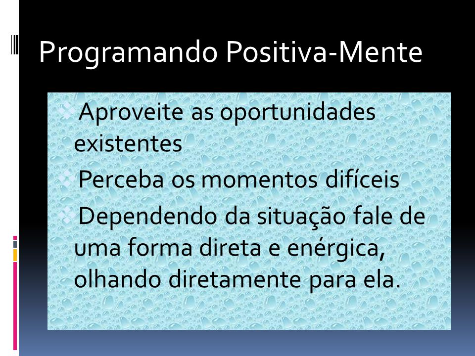 Programando Positiva- Mente