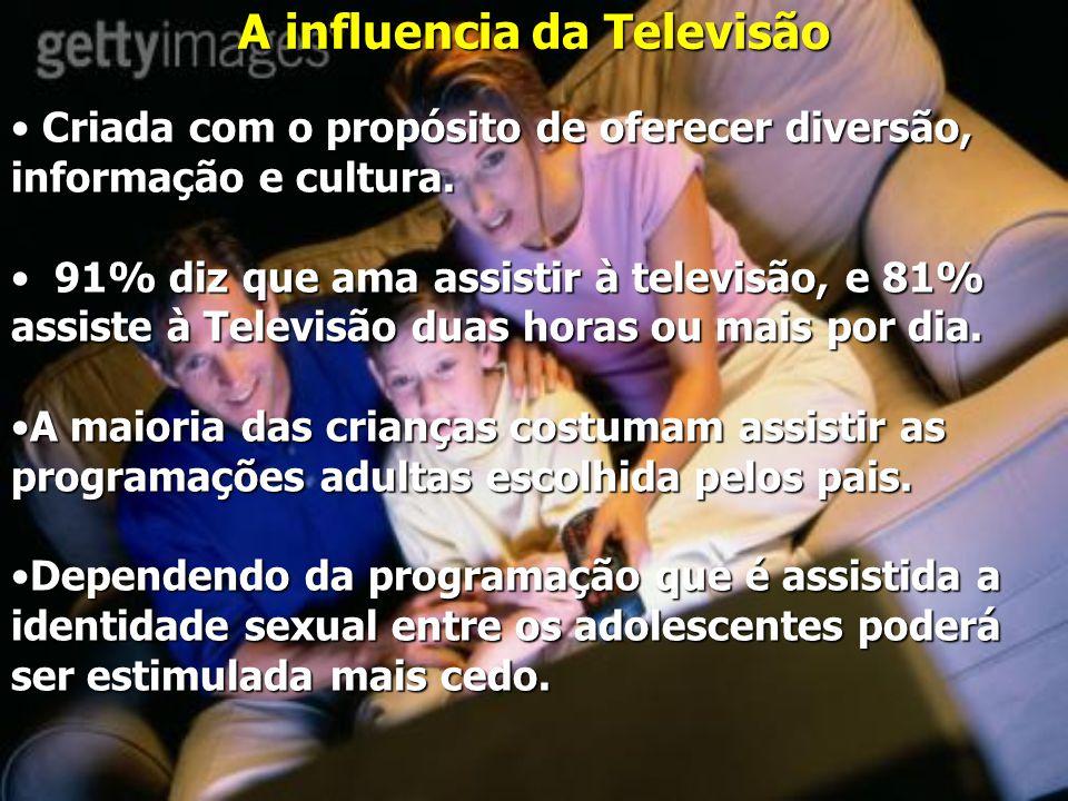 A influencia da Televisão Criada com o propósito de oferecer diversão, informação e cultura.