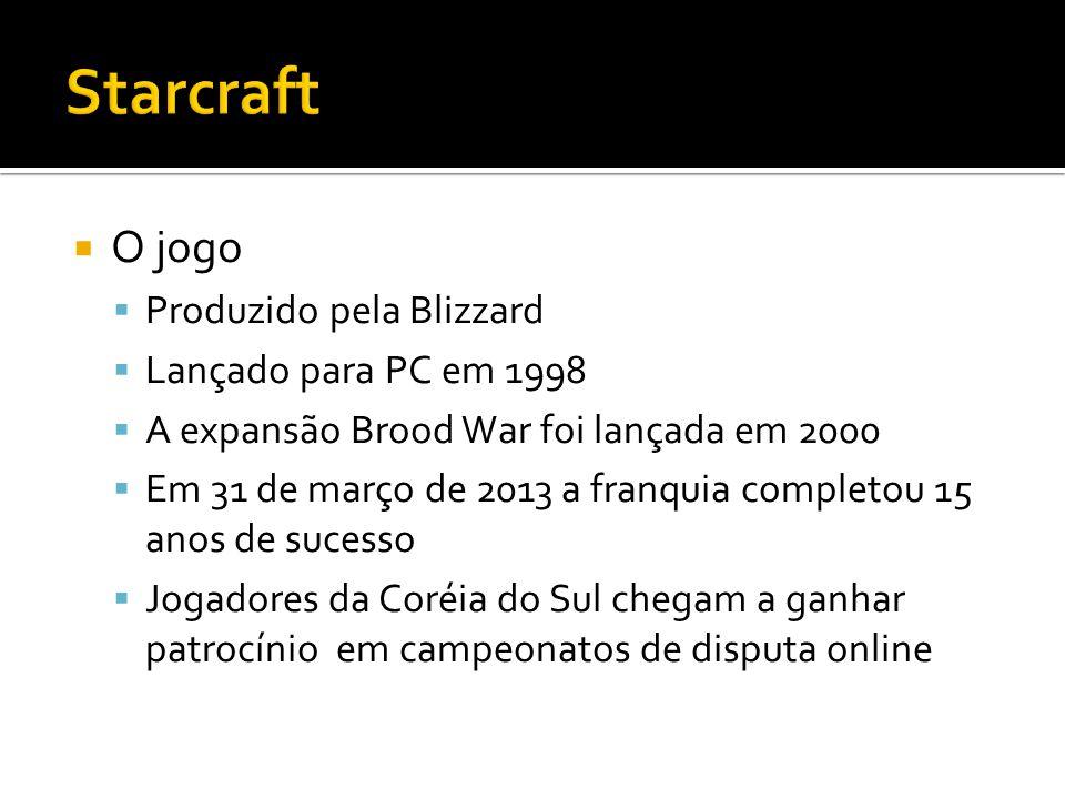 O jogo Produzido pela Blizzard Lançado para PC em 1998 A expansão Brood War foi lançada em 2000 Em 31 de março de 2013 a franquia completou 15 anos de