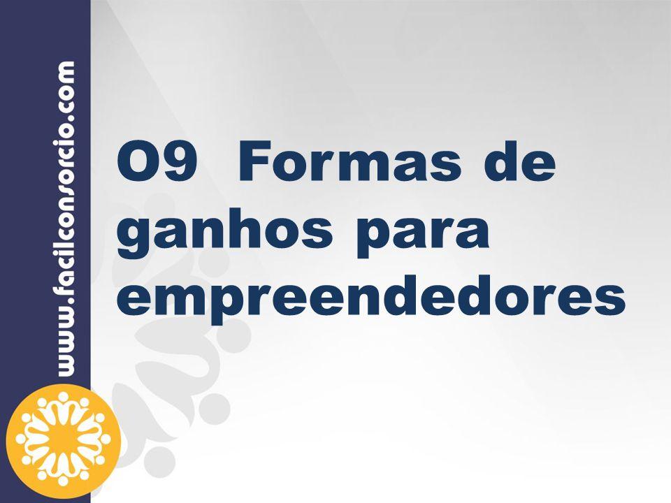 O9 Formas de ganhos para empreendedores