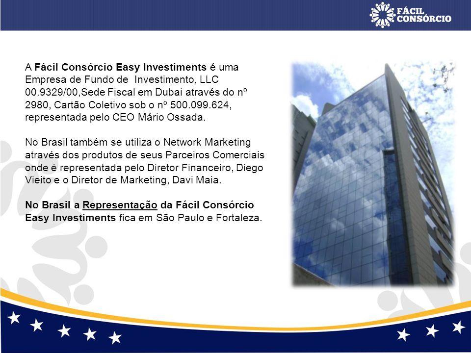 A Fácil Consórcio Easy Investiments é uma Empresa de Fundo de Investimento, LLC 00.9329/00,Sede Fiscal em Dubai através do nº 2980, Cartão Coletivo so