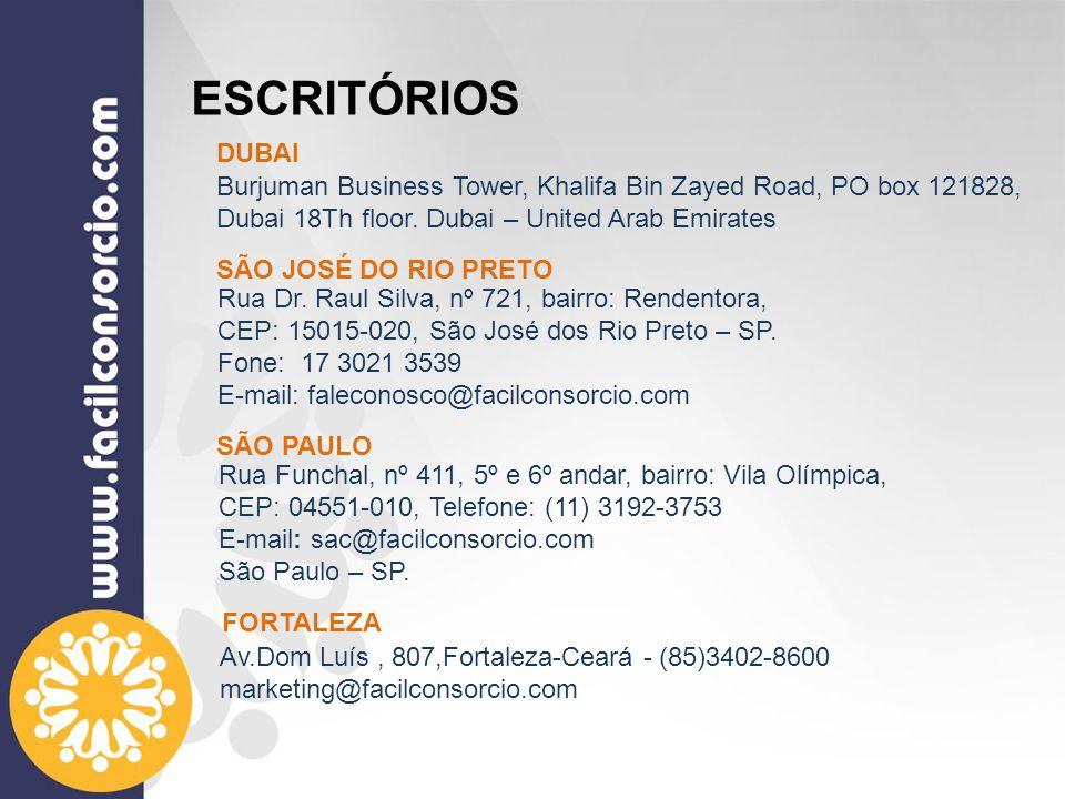 ESCRITÓRIOS Rua Dr. Raul Silva, nº 721, bairro: Rendentora, CEP: 15015-020, São José dos Rio Preto – SP. Fone: 17 3021 3539 E-mail: faleconosco@facilc