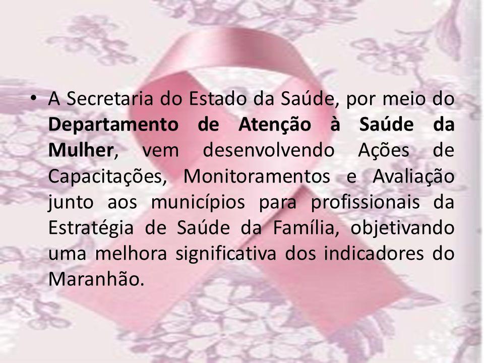 A Secretaria do Estado da Saúde, por meio do Departamento de Atenção à Saúde da Mulher, vem desenvolvendo Ações de Capacitações, Monitoramentos e Aval