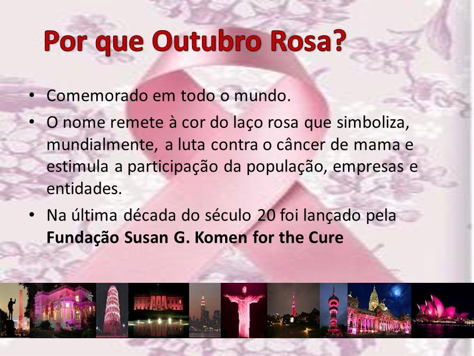 Comemorado em todo o mundo. O nome remete à cor do laço rosa que simboliza, mundialmente, a luta contra o câncer de mama e estimula a participação da