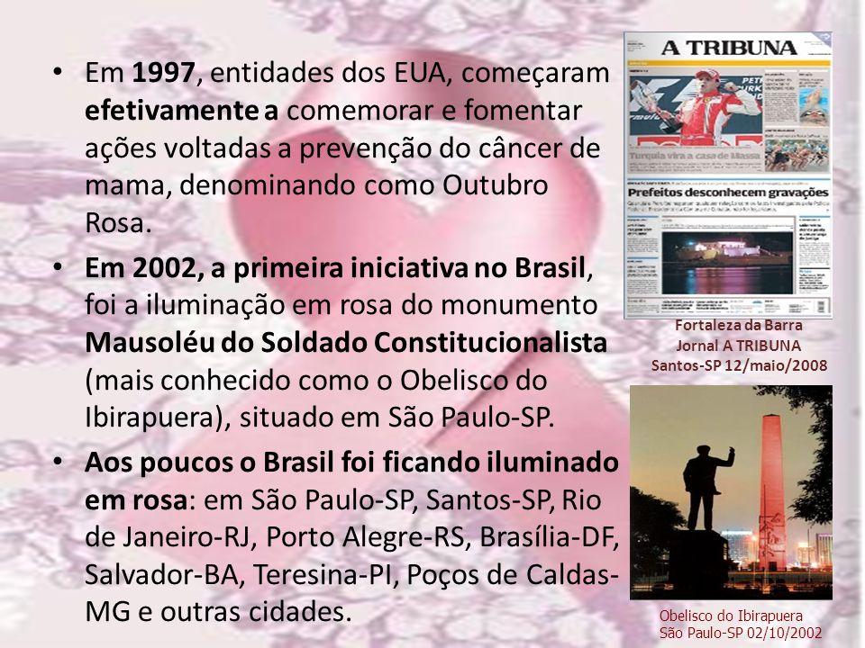 Em 1997, entidades dos EUA, começaram efetivamente a comemorar e fomentar ações voltadas a prevenção do câncer de mama, denominando como Outubro Rosa.