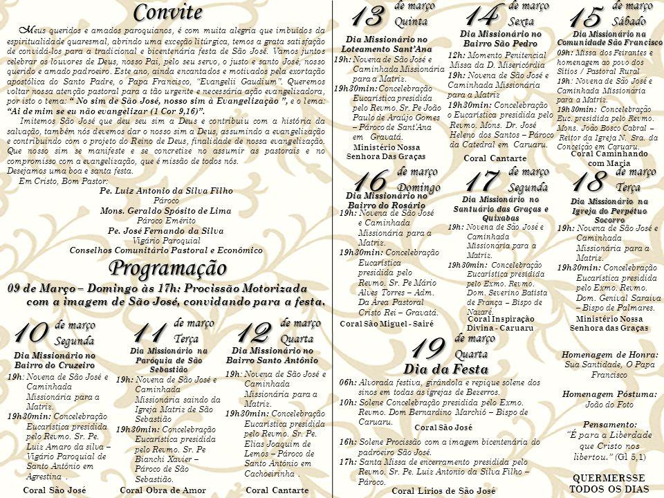NOITEIROS DA FESTA 10/03: Comunidades: Nossa Sra.