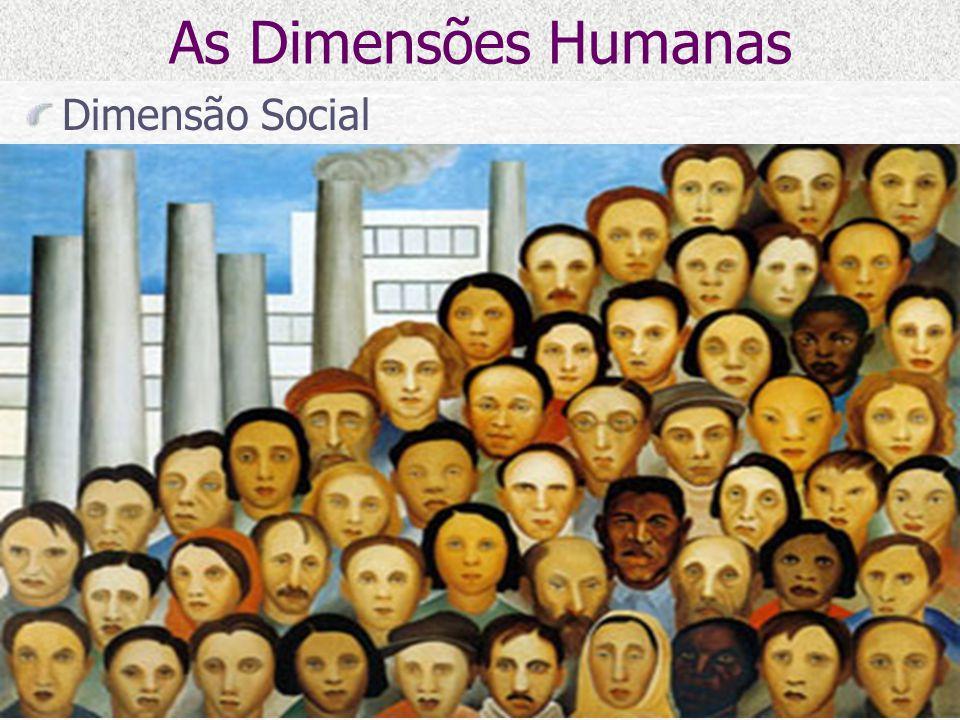 As Dimensões Humanas Dimensão Social
