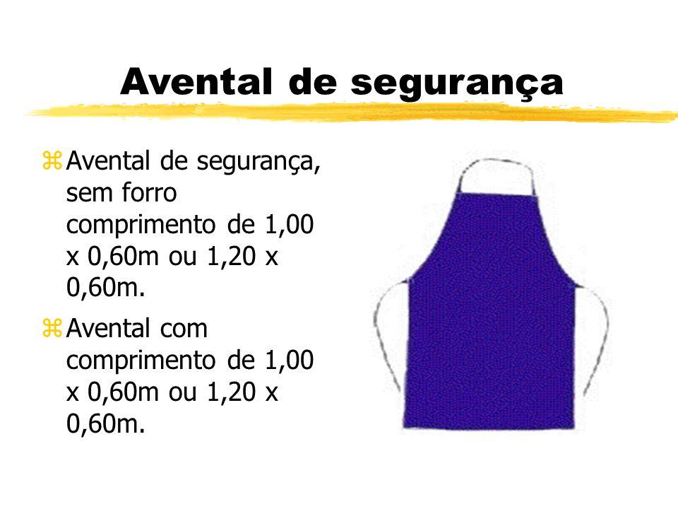 Avental de segurança zAvental de segurança, sem forro comprimento de 1,00 x 0,60m ou 1,20 x 0,60m.