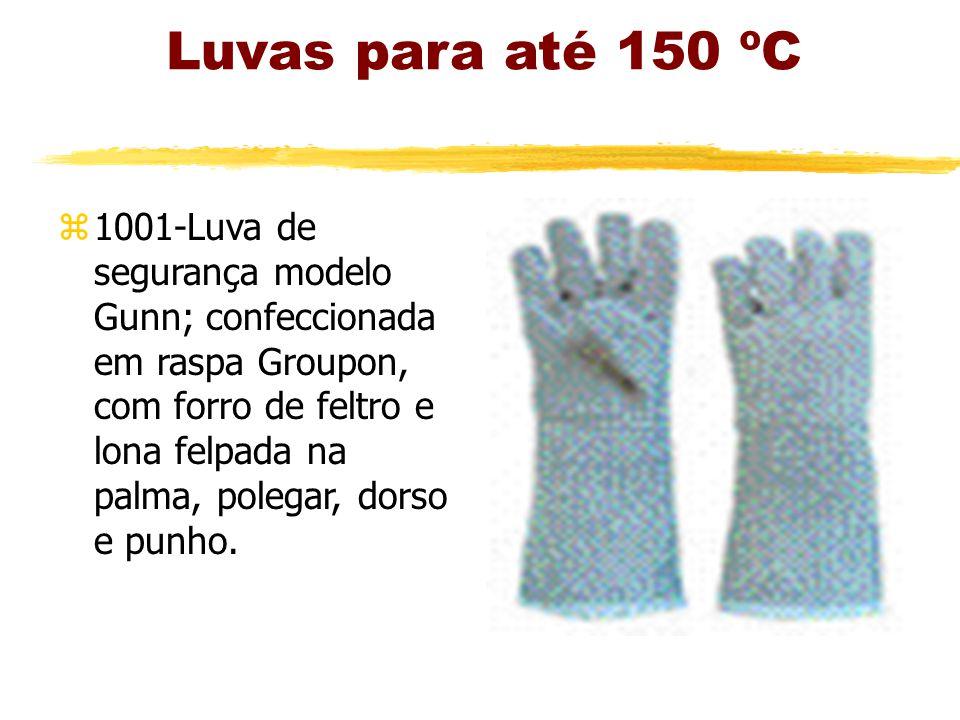 Luvas para até 150 ºC z1001-Luva de segurança modelo Gunn; confeccionada em raspa Groupon, com forro de feltro e lona felpada na palma, polegar, dorso e punho.