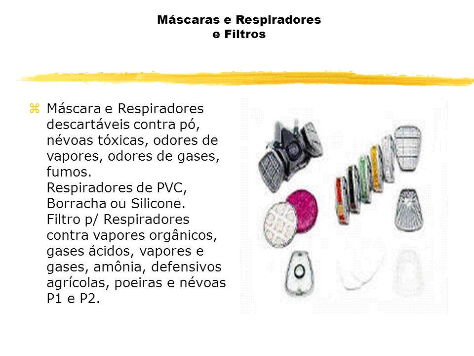 Máscaras e Respiradores e Filtros zMáscara e Respiradores descartáveis contra pó, névoas tóxicas, odores de vapores, odores de gases, fumos.