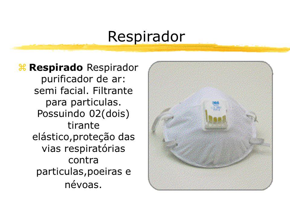 Respirador zRespirado Respirador purificador de ar: semi facial.