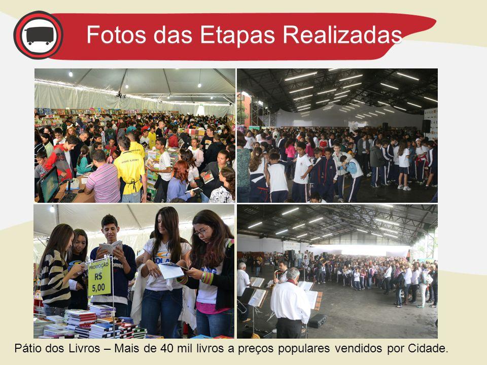 Fotos das Etapas Realizadas Pátio dos Livros – Mais de 40 mil livros a preços populares vendidos por Cidade.