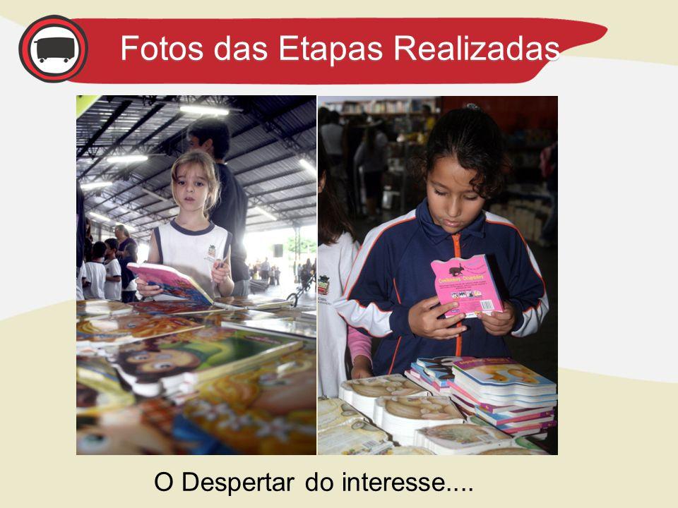 AGENDA – Próximas Etapas Fotos das Etapas Realizadas O Despertar do interesse....