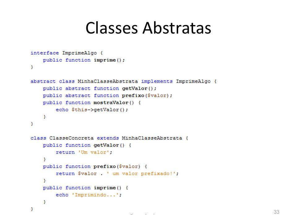 Classes Abstratas Programação para Web33