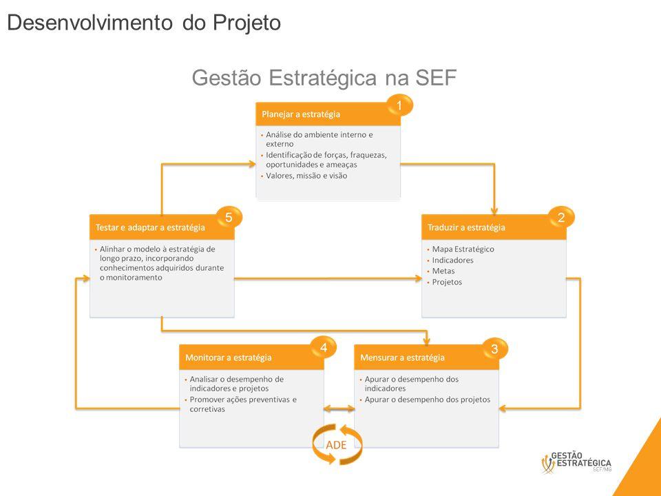 Desenvolvimento do Projeto Gestão Estratégica na SEF
