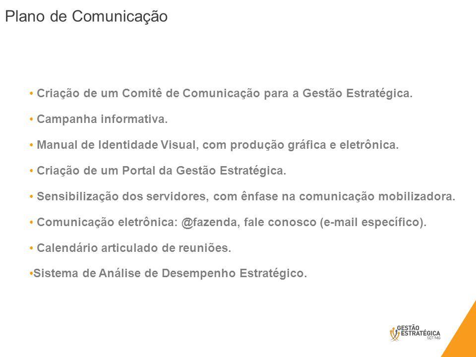 Criação de um Comitê de Comunicação para a Gestão Estratégica. Campanha informativa. Manual de Identidade Visual, com produção gráfica e eletrônica. C