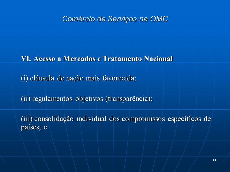 11 Comércio de Serviços na OMC VI.