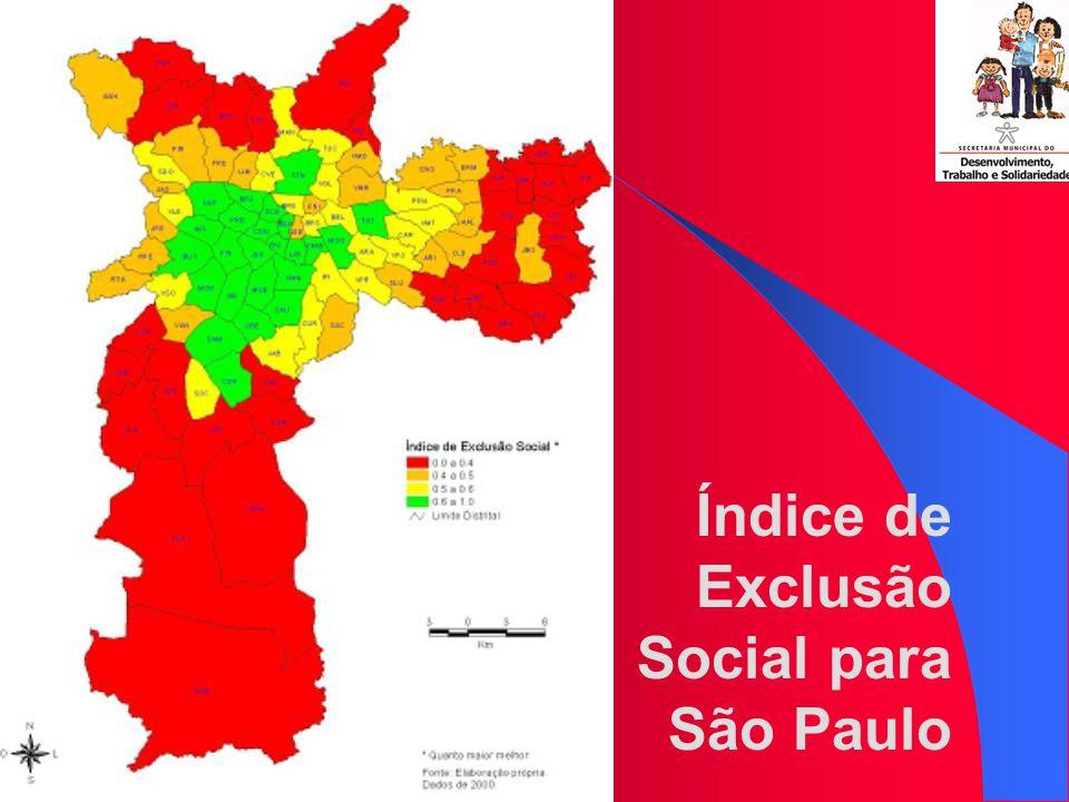 311 mil chefes de família viviam sem renda Nos distritos mais populosos, todos na periferia, 1 em cada 4 chefes de família era pobre Na última década, o número de mortes violentas cresceu 15% no município Dos 3 milhões de chefes de família em São Paulo, 589 mil viviam abaixo da linha da pobreza D IAGNÓSTICO