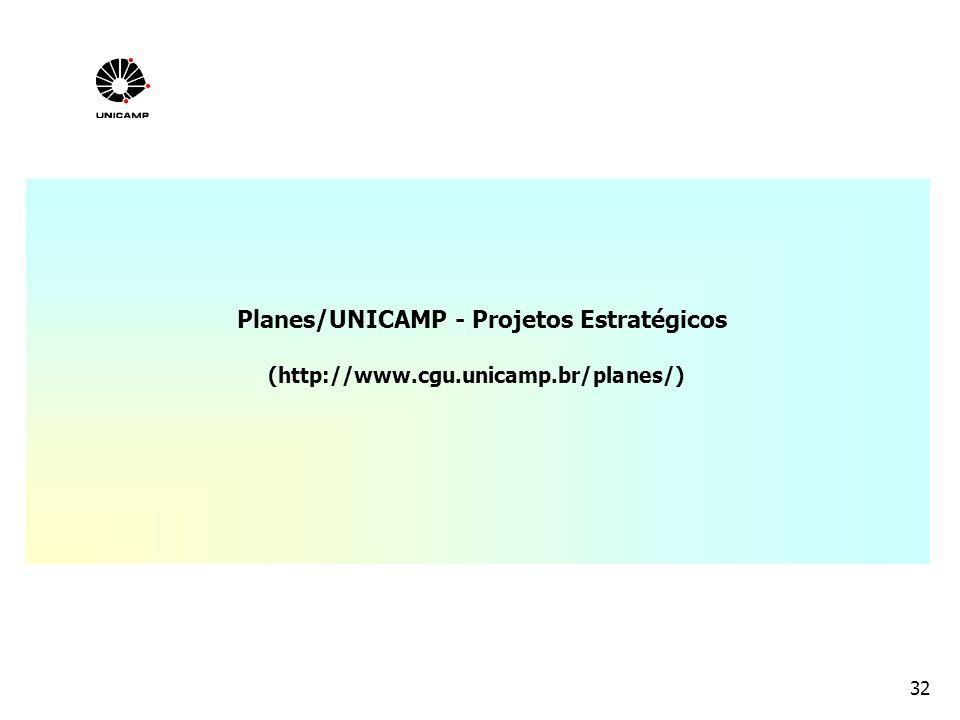 32 Planes/UNICAMP - Projetos Estratégicos (http://www.cgu.unicamp.br/planes/)