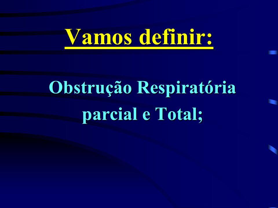 Vamos definir: Obstrução Respiratória parcial e Total;
