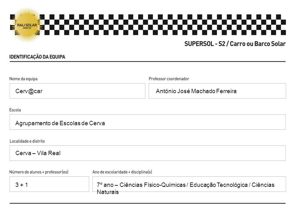 António José Machado Ferreira Agrupamento de Escolas de Cerva Cerva – Vila Real 7º ano – Ciências Físico-Químicas / Educação Tecnológica / Ciências Na