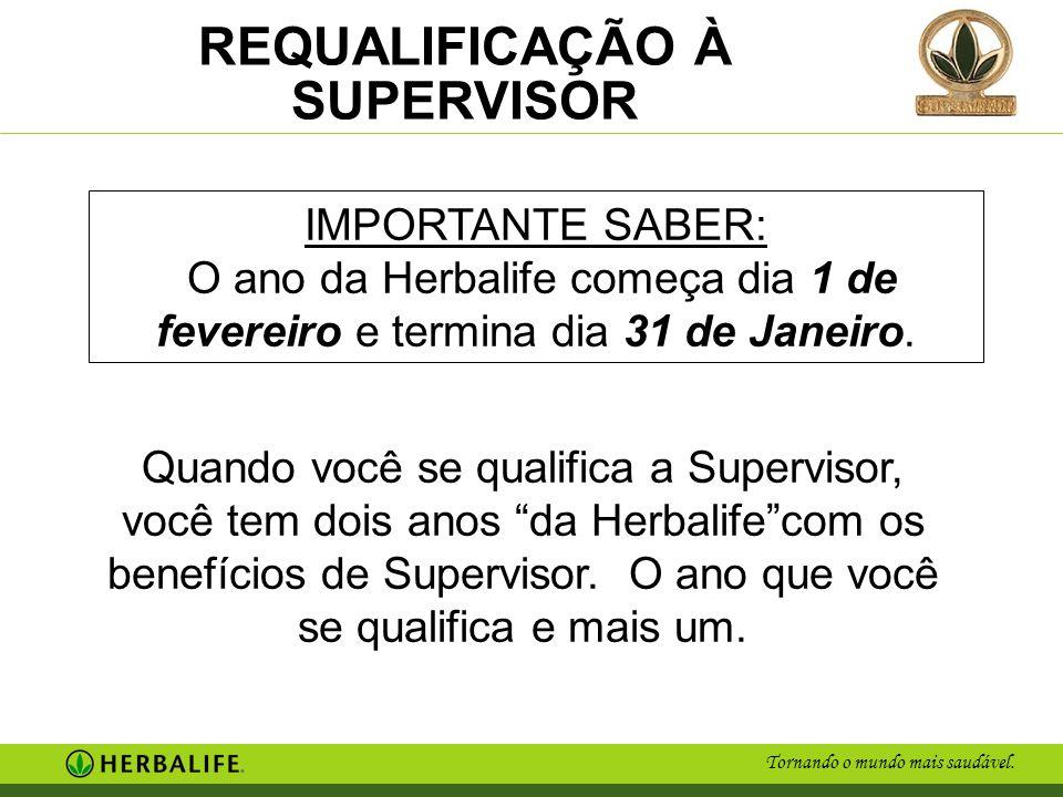 Tornando o mundo mais saudável.REQUALIFICAÇÃO À SUPERVISOR Ex.