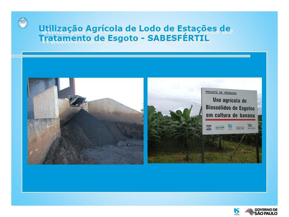 Utilização Agrícola de Lodo de Estações de Tratamento de Esgoto - SABESFÉRTIL