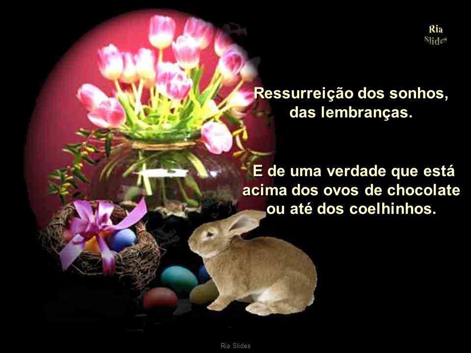 Ria Slides Ressurreição do sorriso, da alegria de viver, do amor. Ressurreição da amizade e da vontade de ser feliz..