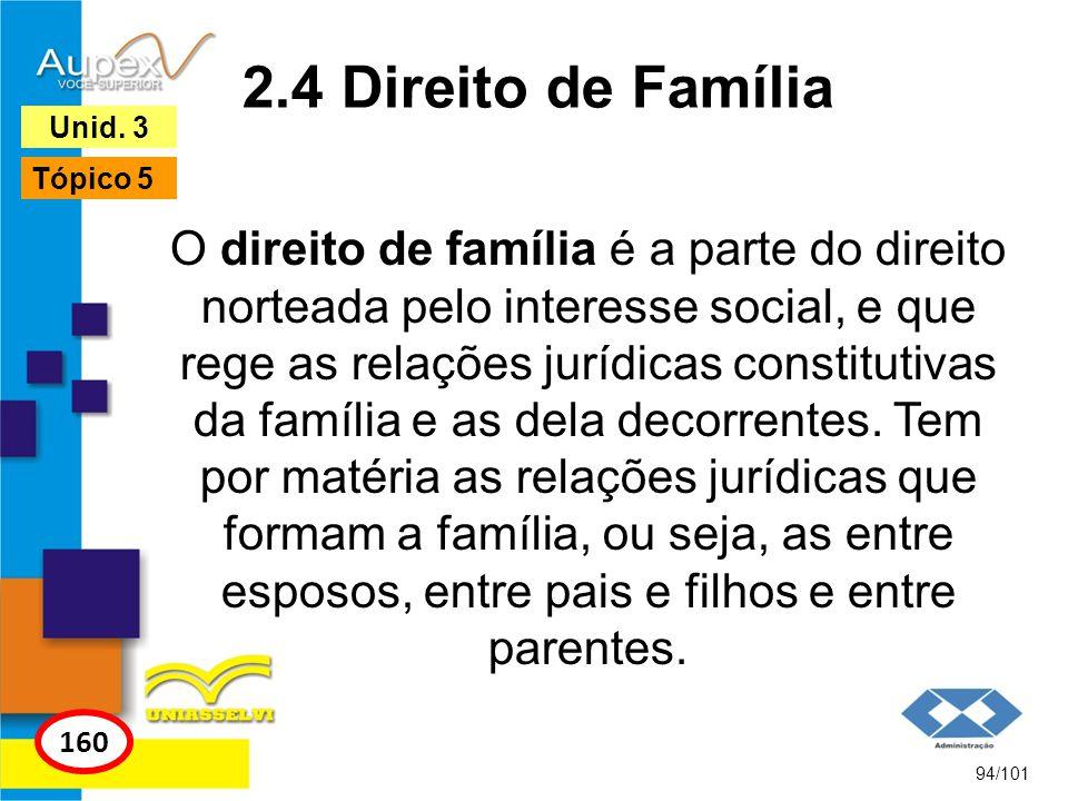 O direito de família é a parte do direito norteada pelo interesse social, e que rege as relações jurídicas constitutivas da família e as dela decorrentes.