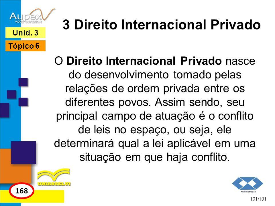 O Direito Internacional Privado nasce do desenvolvimento tomado pelas relações de ordem privada entre os diferentes povos.