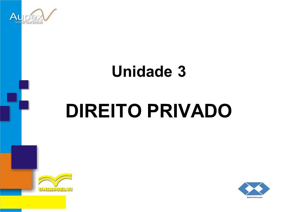Unidade 3 DIREITO PRIVADO