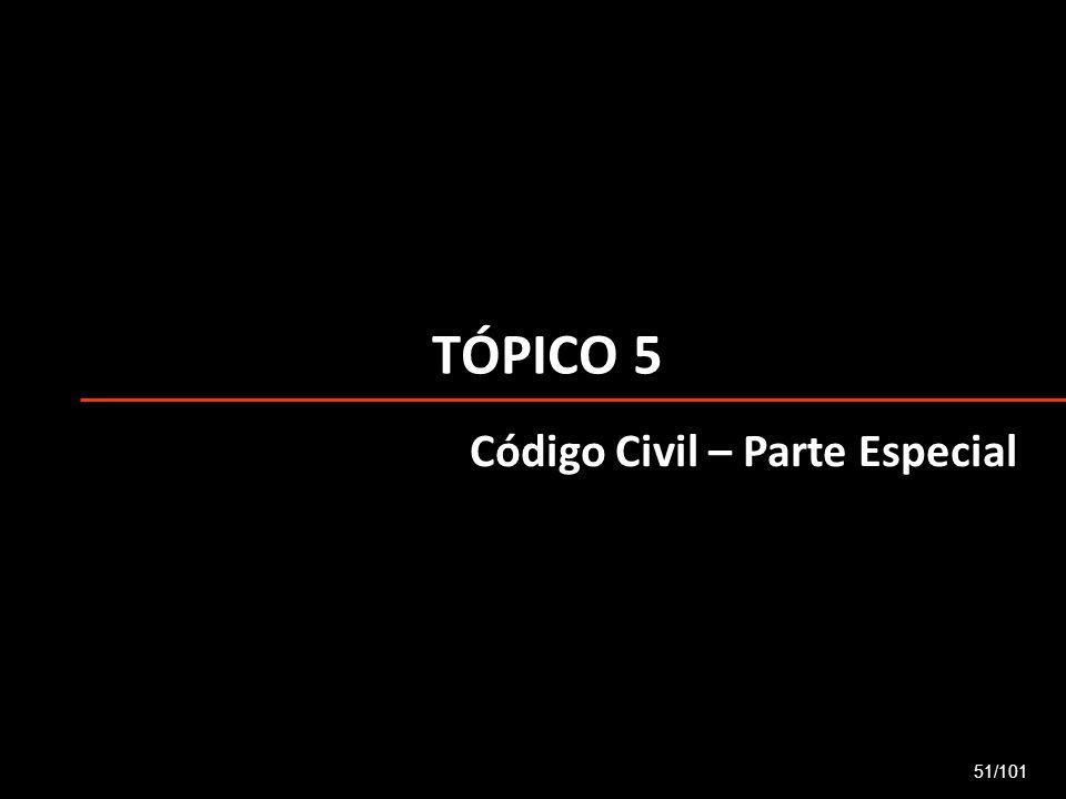 TÓPICO 5 51/101 Código Civil – Parte Especial
