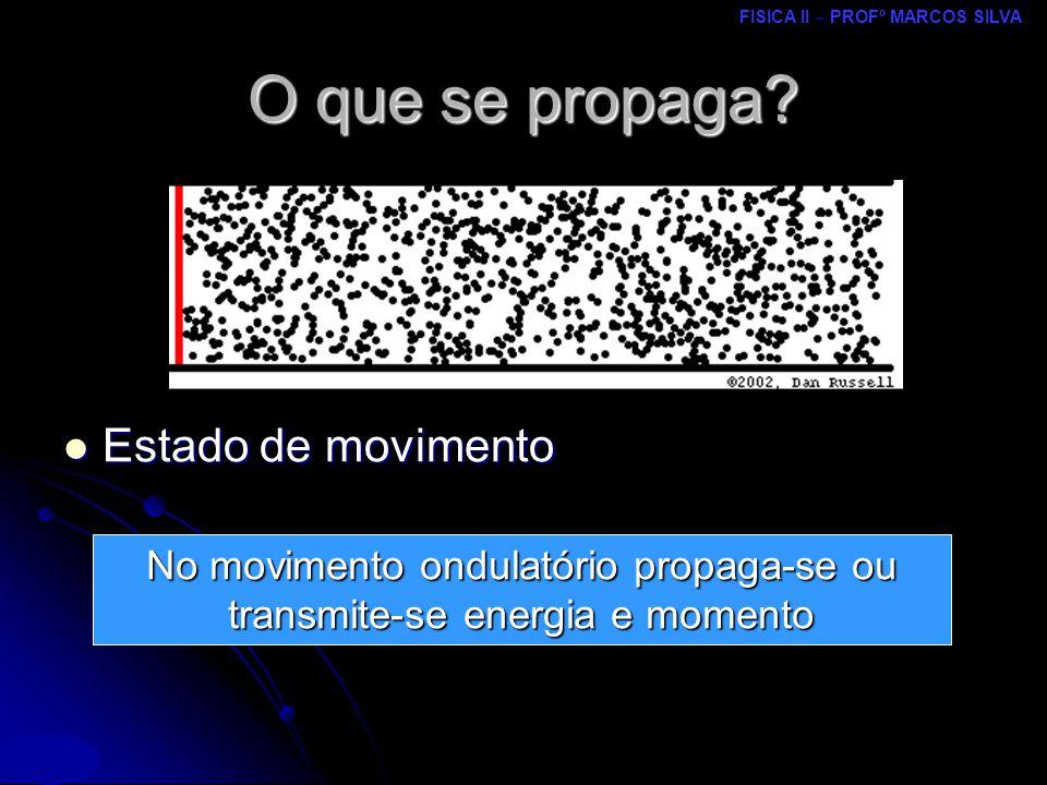 FISICA II – PROFº MARCOS SILVA MRCPDF – UM O que se propaga.