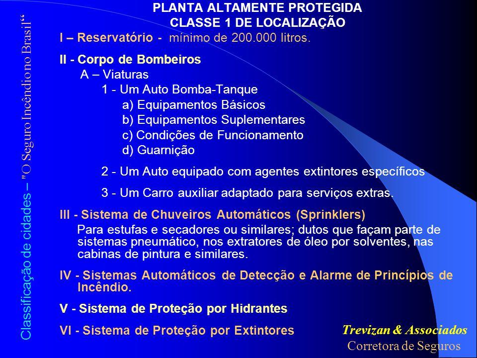 Classificação de cidades – O Seguro Incêndio no Brasil LEIS DE PREVENÇÃO, POLÍCIA E PROPAGANDA – 5% 1.Leis...........................................................................50pontos 2.Polícia.......................................................................8pontos 3.Propaganda..............................................................7pontos TOTAL65pontos CARACTERÍSTICAS GERAIS DA CIDADE – 5% 1.Ocupação principal..................................................20pontos 2.Área do Município....................................................10pontos 3.Largura das ruas.......................................................10pontos 4.Porcentagem construída..........................................10pontos 5.Condições climáticas...............................................10pontos 6.Variações topográficas...........................................5pontos TOTAL78Pontos Miguel Roberto Soares Silva