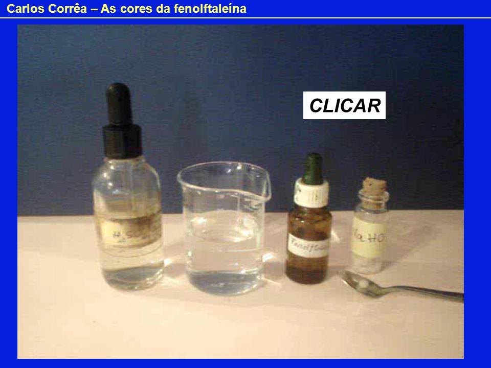 Carlos Corrêa – As cores da fenolftaleína + 2 H 2 O Explicação dos fenómenos: FENOLFTALEÍNA Em meio alcalino são removidos protões dos grupos hidroxilo e o anel central (lactona) abre.