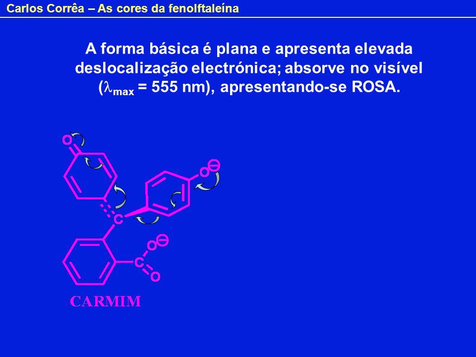 Carlos Corrêa – As cores da fenolftaleína E em soluções ácidas muito concentradas.