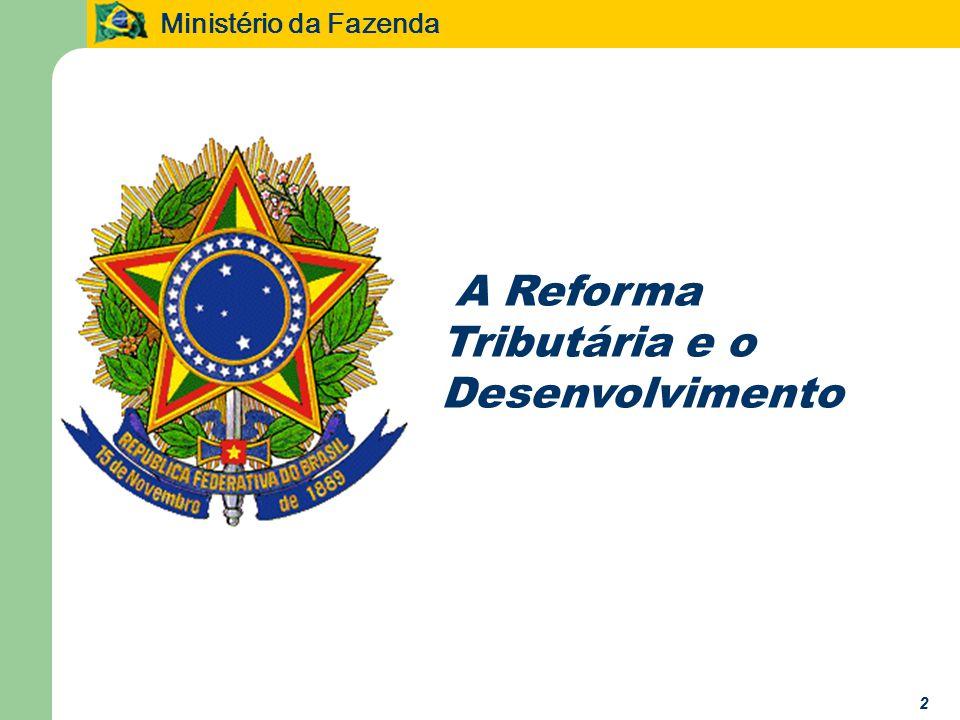 Ministério da Fazenda 33 O PROJETO DE REFORMA TRIBUTÁRIA