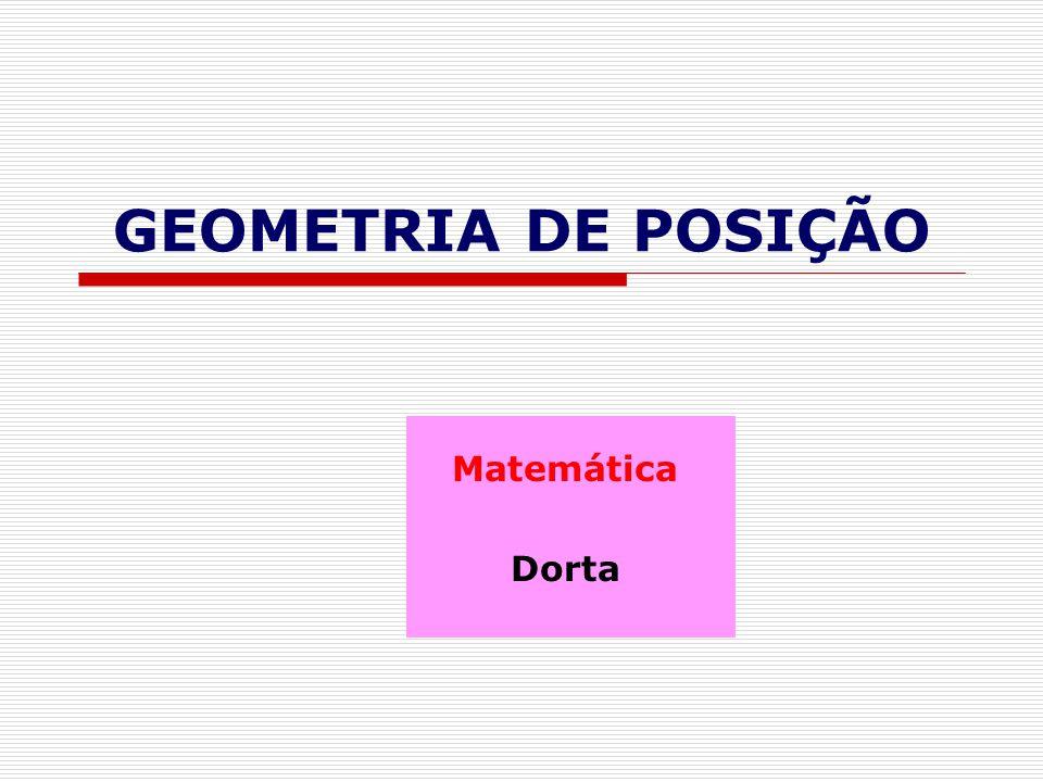 GEOMETRIA DE POSIÇÃO Matemática Dorta