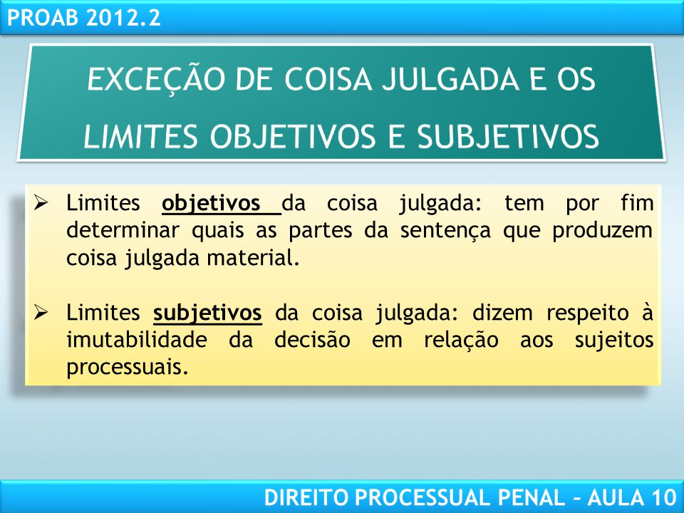 RESPONSABILIDADE CIVIL AULA 1 PROAB 2012.2 DIREITO PROCESSUAL PENAL – AULA 10 CONFLITOS DE JURISDIÇÃO Com efeito, haverá quando houver divergência entre órgãos de jurisdições distintas.