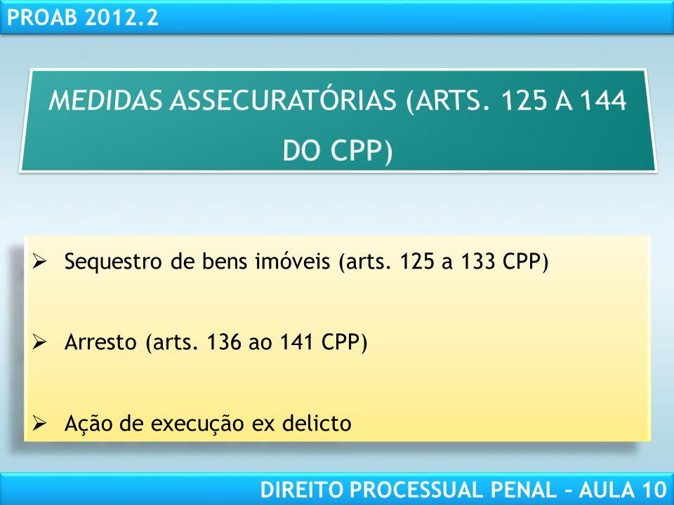 RESPONSABILIDADE CIVIL AULA 1 PROAB 2012.2 DIREITO PROCESSUAL PENAL – AULA 10 Ação de execução ex delicto - art.