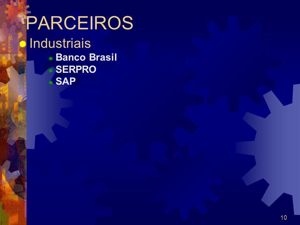 10 PARCEIROS Industriais Banco Brasil SERPRO SAP