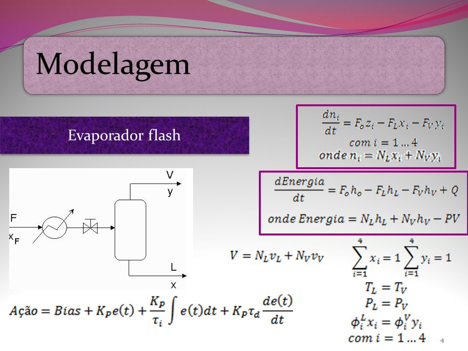 Modelagem 4 Evaporador flash