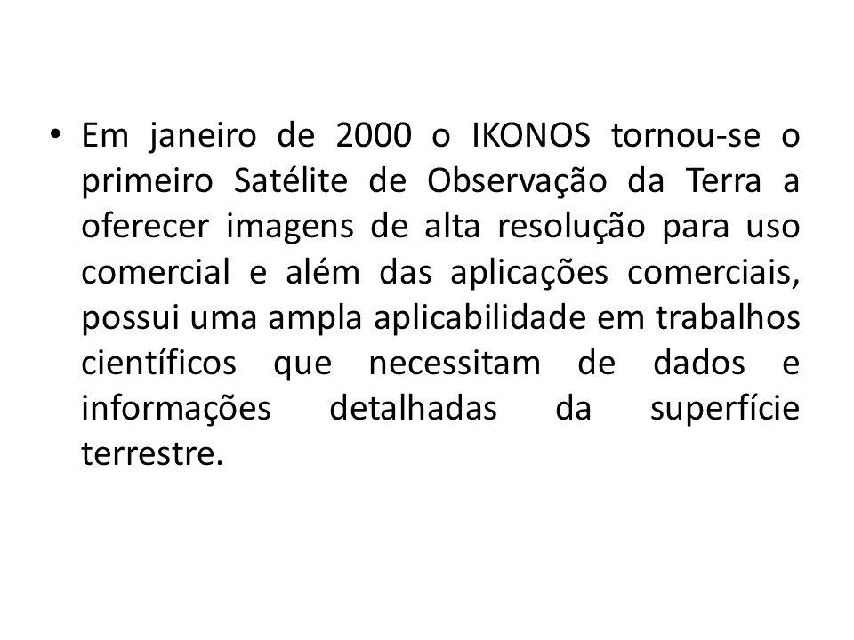 Em janeiro de 2000 o IKONOS tornou-se o primeiro Satélite de Observação da Terra a oferecer imagens de alta resolução para uso comercial e além das ap
