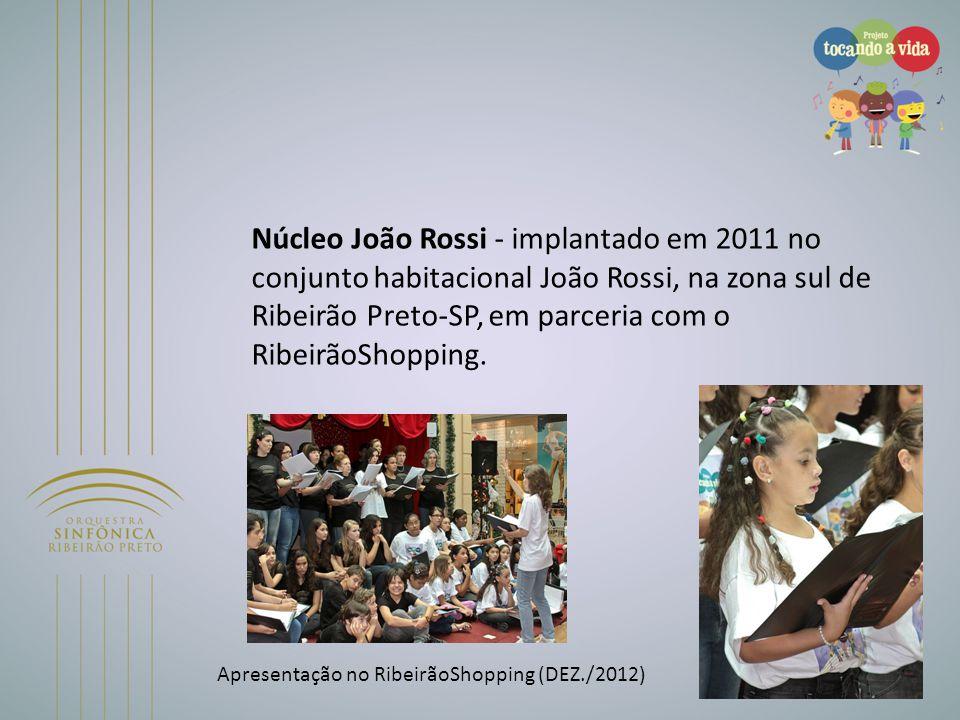 Núcleo João Rossi - implantado em 2011 no conjunto habitacional João Rossi, na zona sul de Ribeirão Preto-SP, em parceria com o RibeirãoShopping. Apre