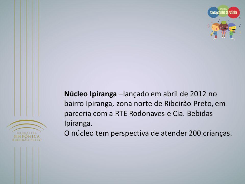 Núcleo Ipiranga –lançado em abril de 2012 no bairro Ipiranga, zona norte de Ribeirão Preto, em parceria com a RTE Rodonaves e Cia. Bebidas Ipiranga. O