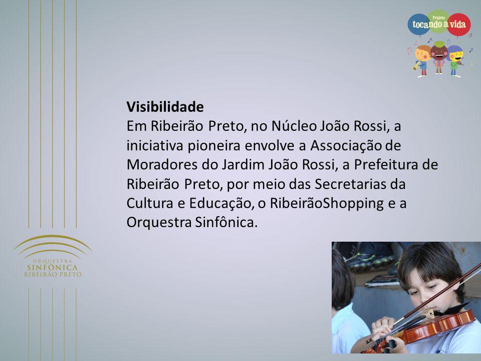 Visibilidade Em Ribeirão Preto, no Núcleo João Rossi, a iniciativa pioneira envolve a Associação de Moradores do Jardim João Rossi, a Prefeitura de Ri